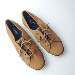 Sperry   Camel - Tan crest vibe leather sneakers